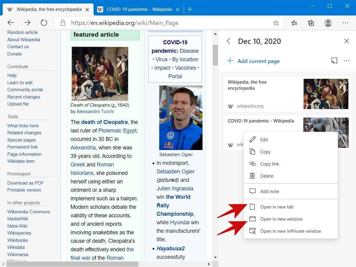 open-individual-web-pages-microsoft-edge