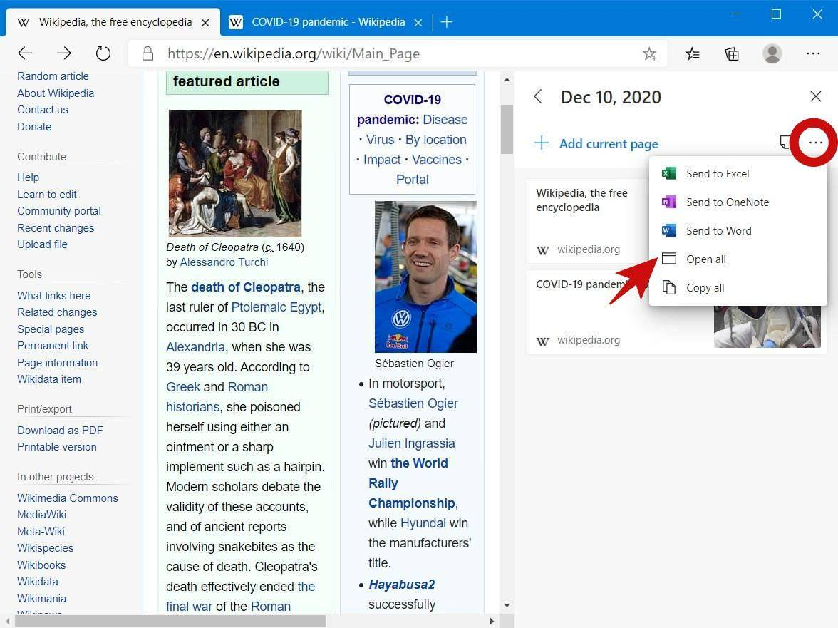open-saved-web-pages-microsoft-edge