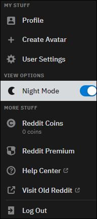 如何启用Reddit黑暗模式