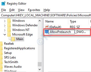 New-DWORd-Value-Rename-AllowPrelaunch-double-click