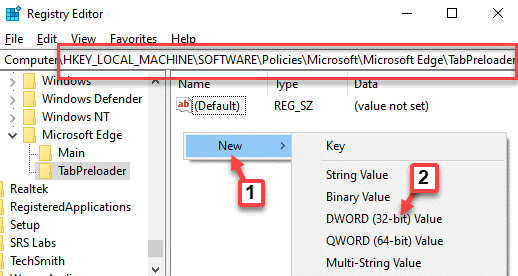 Registry-Editor-Navigate-to-Path-TabPreloader-right-side-empty-area-right-click-New-DWORD-32-bit-Value