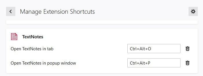 TextNotes-keyboard-shortcuts