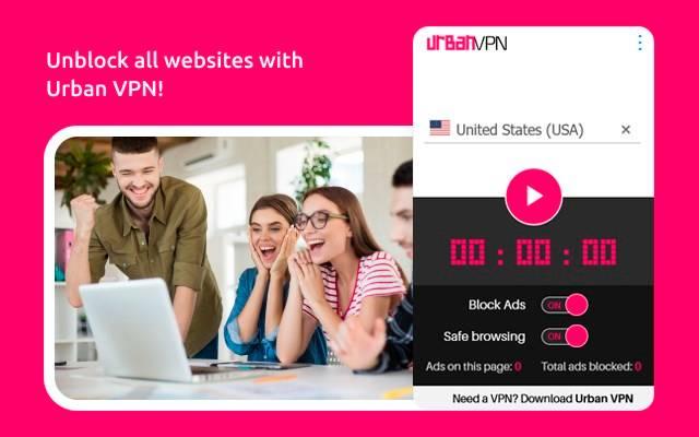 Edge浏览器 Urban Free VPN proxy Unblocker - Best VPN 插件下载