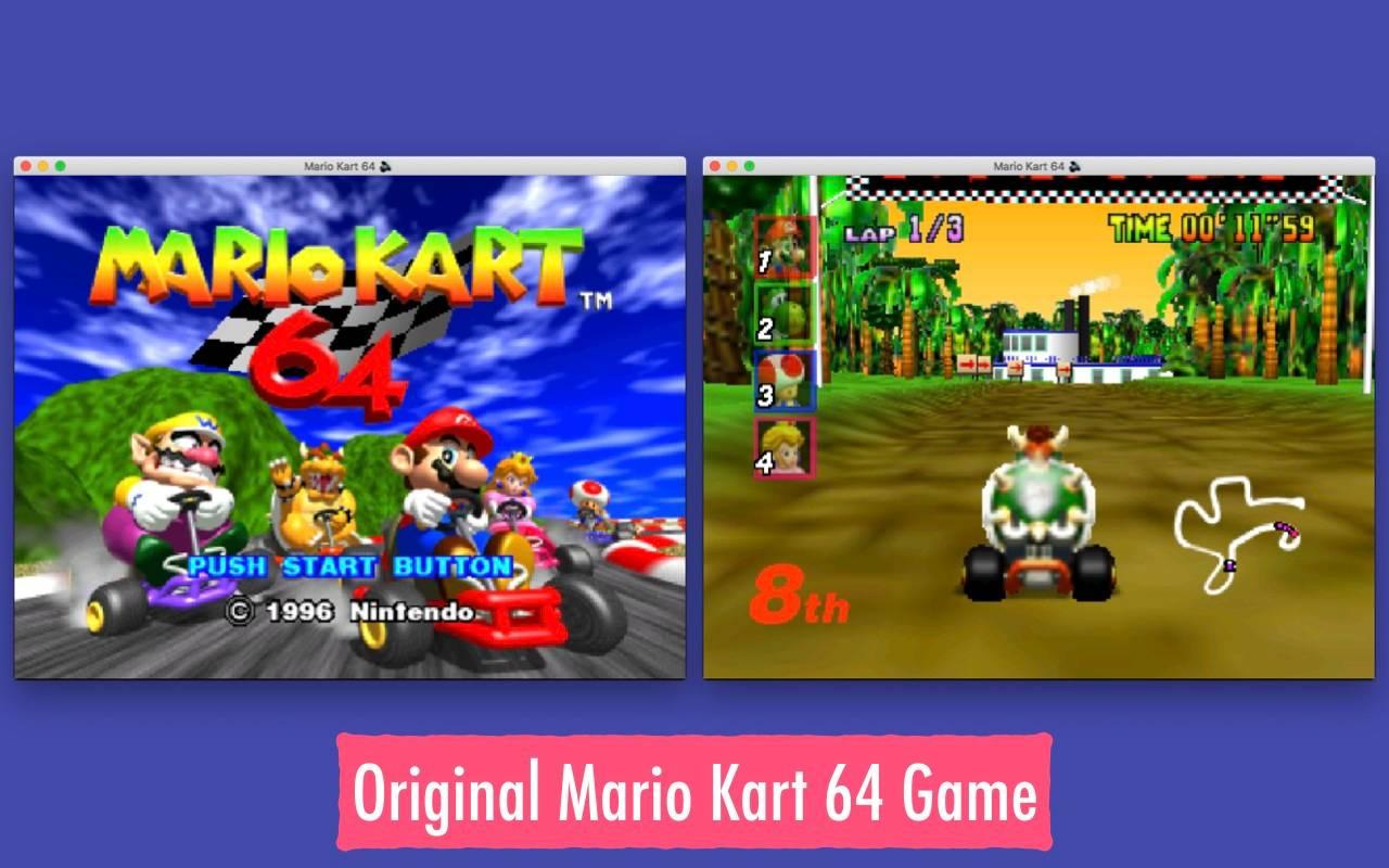 Edge中内置游戏:马里奥赛车64-N64模拟器