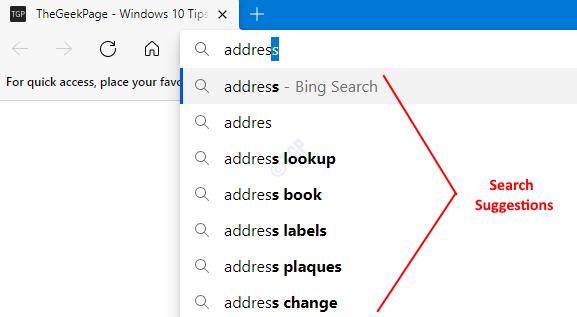 如何在Microsoft Edge中关闭搜索建议