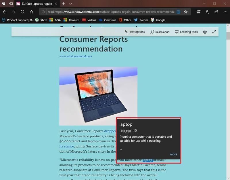 如何启用或禁用Microsoft Edge词典