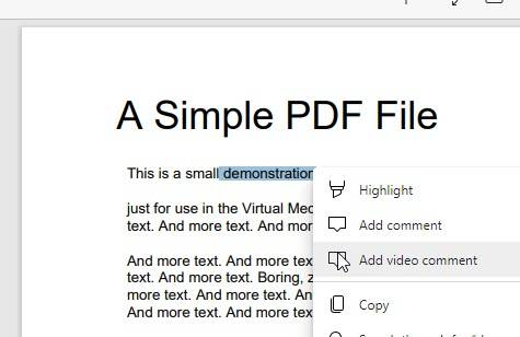 Microsoft Edge现在允许在PDF文档上添加视频注释