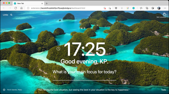 New-Start-Page-Installed-in-Microsoft-Edge