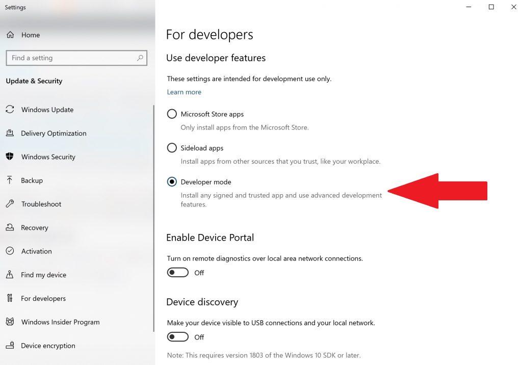 developer-settings