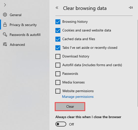 如何在Chrome,Firefox和Edge上清除Cookies