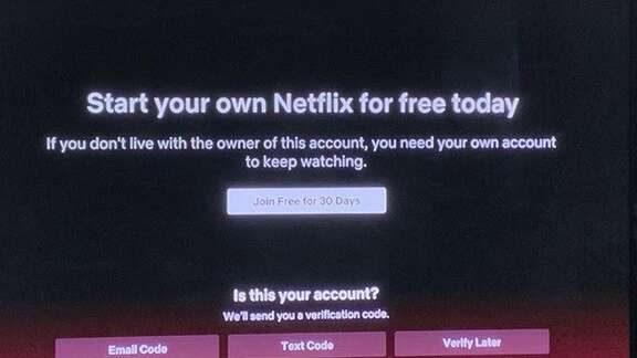 Netflix要求密码借用者在新测试中获得自己的帐户