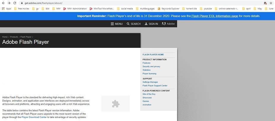 如何解锁Adobe Flash Player(Chrome / Firefox / Edge / IE / Safari)