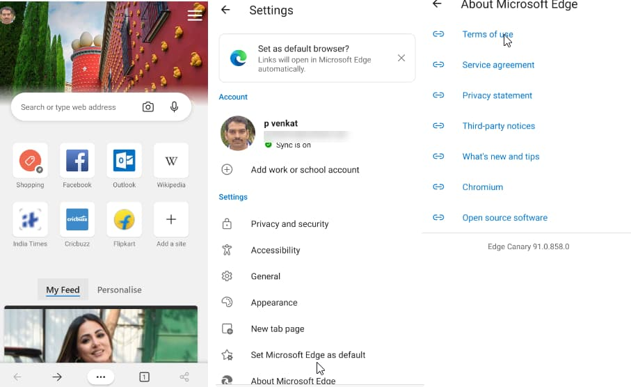 适用于Android的Microsoft Edge Canary可在Play商店下载