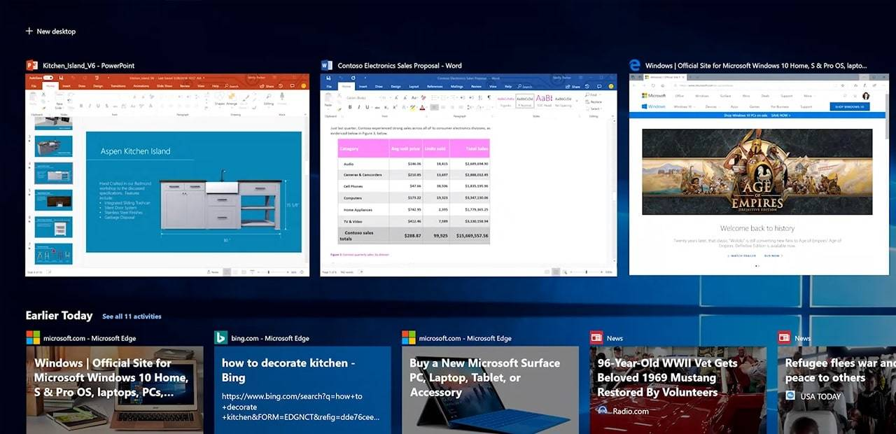 Windows-Timeline-support