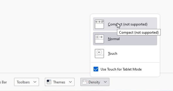 select-compact-not-supoprted-option
