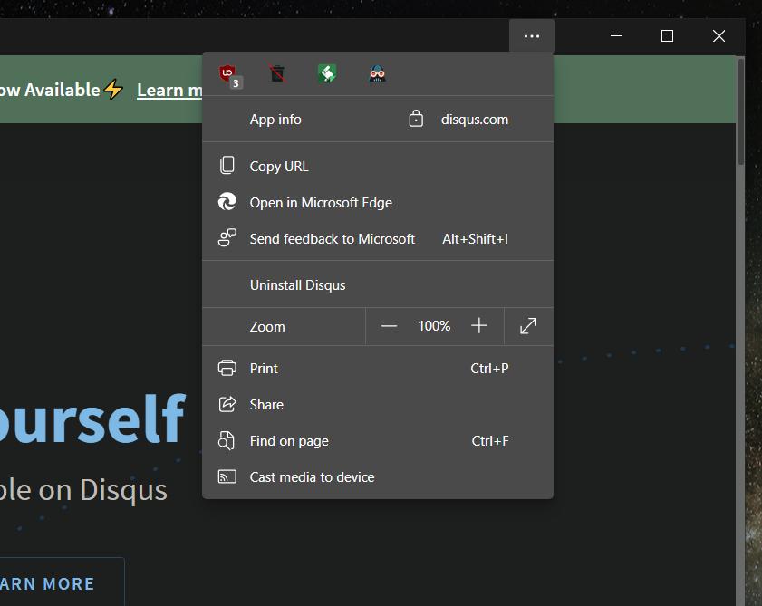 微软重新设计Edge PWA应用程序菜单