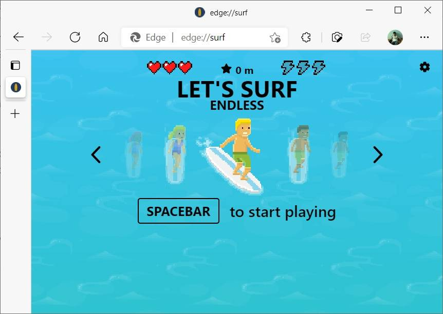Microsoft-Edge-Surf-game