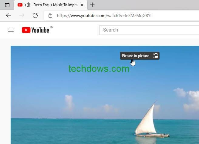 Microsoft Edge 向视频添加画中画按钮